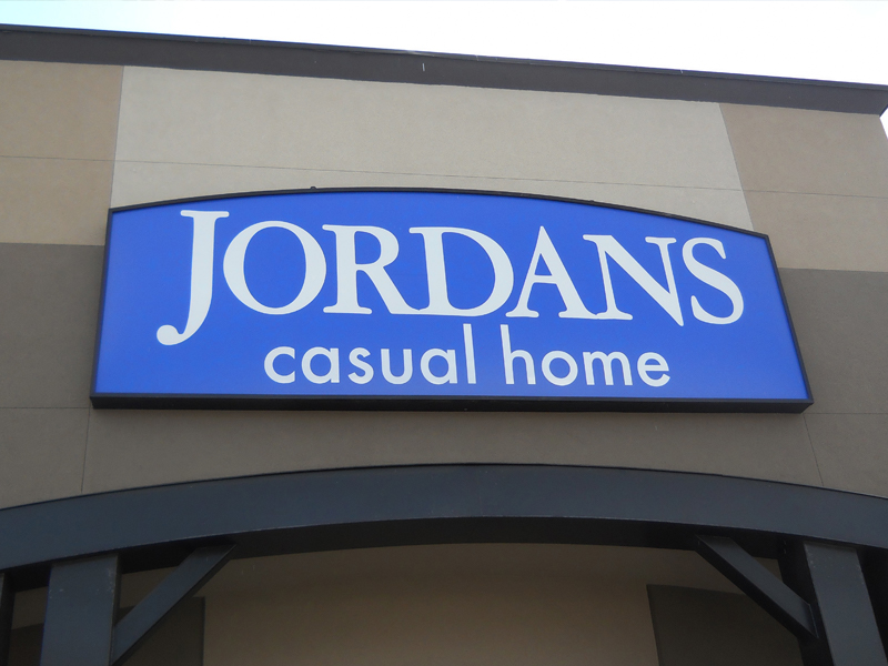 Jordans Furniture, Victoria B.C., Fascia Signs